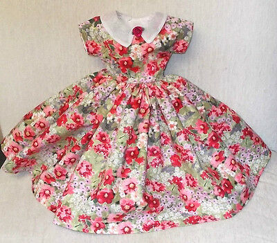 "20""   CISSY  Miss REVLON  FASHION  Clothes  BEAUTIFUL  FLOWERS & ORGANDY   DRESS"