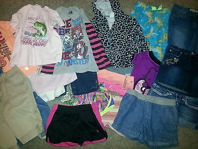 Lot of 22 Pieces of Girl's Clothes Various Brands in sIze 6/6X 7  8  S  GUC