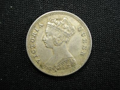XF Hong Kong Silver Coin Queen Victoria 1898 Ten Cents 原味包漿香港一毫銀幣