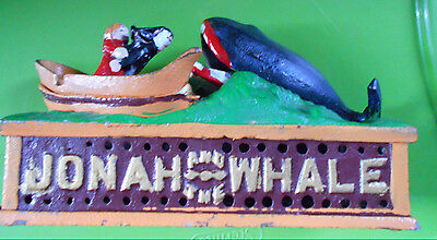 Jonah and the Whale Cast Iron Bank Vintage