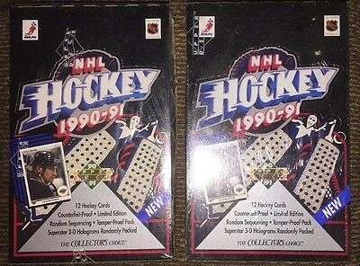 1990 1991 Upper Deck Nhl Hockey Low Series Factory Sealed Two Boxes