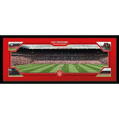 "Official Manchester United FC Framed Picture 30"" x 12"" - Old Trafford"