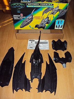 Collectible 1996 Batman Forever Triple Action Vehicle Set in Original Box--Used