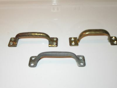 3 Vintage Window Sash Hardware Pull Handles - All Are Different