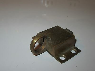 Vintage Brass Cabinet Door Latch - Pull Ring Handle