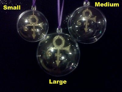 PRINCE New Limited Edition GOLD * FLOATING LOVE SYMBOL * CHRISTMAS TREE ORNAMENT