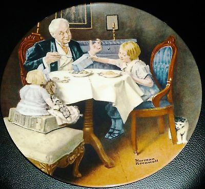 Knowles Norman Rockwell Collector Plate 'the Gourmet' Rockwell Classic