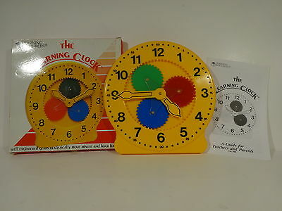 Vintage 1987 The Learning Clock by Learning Resources Inc mechanical educational