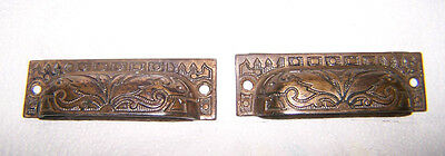 Antique ART DECO Victorian Eastlake BUTTERFLY Bin DRAWER PULL Cast Iron