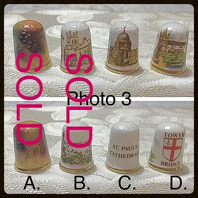 "One Caverswall Thimble - Tower Bridge - Thimble ""D"""