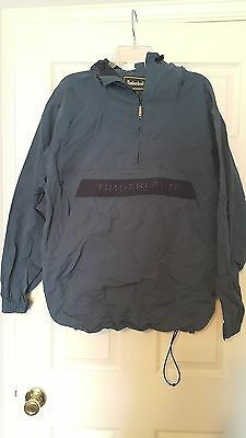 1990s Timberland Performance Blue Hooded Ski Jacket Windbreaker Size Large