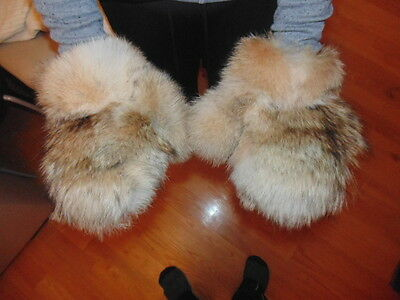 New Real Coyote Fur Gloves Mittens Soft and Furry Nice