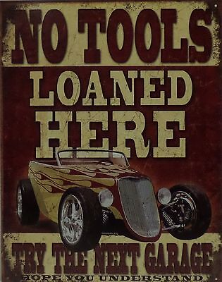 Pin Up Girl No Tools Loaned Metal Sign Man Cave Garage Body Shop Club LETH004