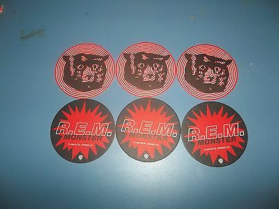 R.e.m. Set Of Six Monster Two Sided Promo Only Circular Drink Coasters