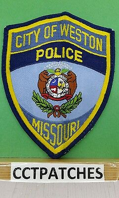 City Of Weston, Missouri Police Shoulder Patch Mo