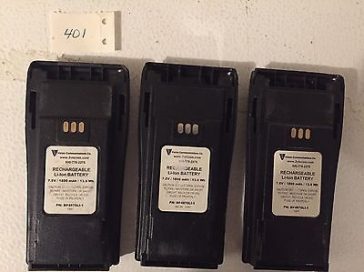 3 Used Aftermarket Lithium Ion Batteries For Motorola CP150 CP200 CP200d PR400