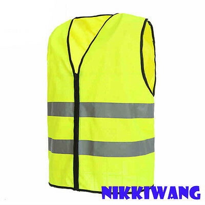 High Visibility Safety Reflective Vest Motorcycle Bicycle Night Running Walking
