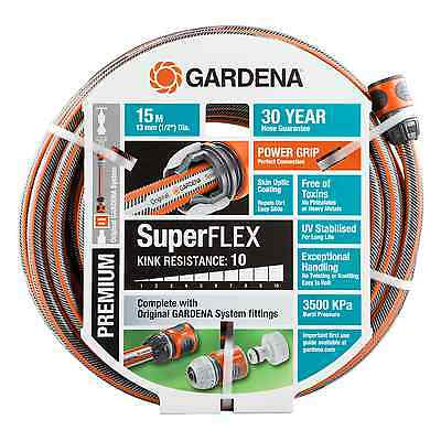 GARDENA SuperFLEX FITTED GARDEN HOSE Kink Resistant*German Brand-13mmx 15 Or 30m