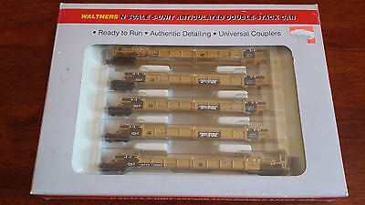 Walthers Thrall 5-Car Double Stack Unit Knuckles Excellent Boxed N Gauge (J1)