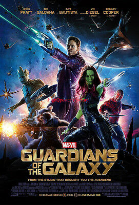 GUARDIANS OF THE GALAXY original DS 27x40 POSTER Intel version Final 2 Sided us