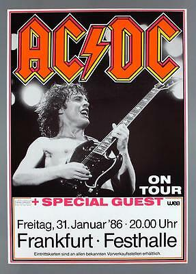 AC/DC - rare original Frankfurt 1986 FLY ON THE WALL concert poster