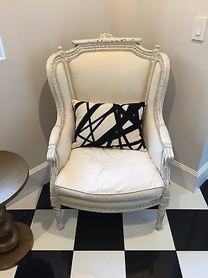 Pair of French Chic Louis XV Bergere Arm Chairs