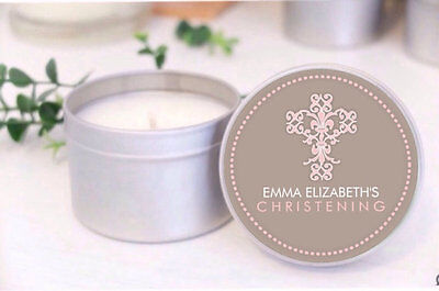 Personalised CHRISTENING / BAPTISM / COMMUNION Soy Candle favours