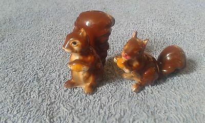 Miniature Porcelain Chipmunks/squirrels,  Without Any Markings.