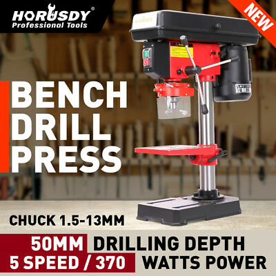 Heavy Duty Bench Drill Press Mounted 5 Speed RPM 370W With Chuck Guard 1.5-13mm