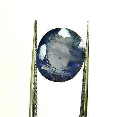 4.62 Ct Certified Natural Blue Iolite Oval Untreated loose Gemstone  - H 117973