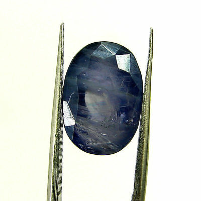 5.46 Ct Certified Natural Blue Iolite Oval Untreated loose Gemstone  - H 117977