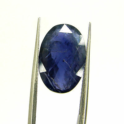 4.44 Ct Certified Natural Blue Iolite Oval Untreated loose Gemstone  - H 117779
