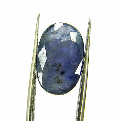 5.98 Ct Certified Natural Blue Iolite Oval Untreated loose Gemstone  - H 117978