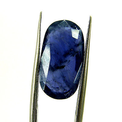 5.07 Ct Certified Natural Blue Iolite Oval Untreated loose Gemstone  - H 117979