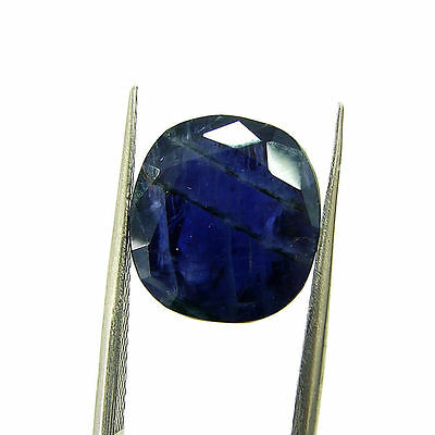 6.38 Ct Certified Natural Blue Iolite Oval Untreated loose Gemstone  - H 117792