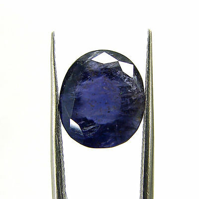 5.57 Ct Certified Natural Blue Iolite Oval Untreated loose Gemstone  - H 117790
