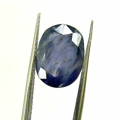 3.85 Ct Certified Natural Blue Iolite Oval Untreated loose Gemstone  - H 117980
