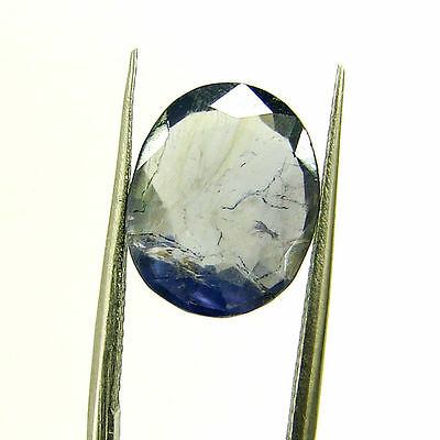 3.68 Ct Certified Natural Blue Iolite Oval Untreated loose Gemstone  - H 117981