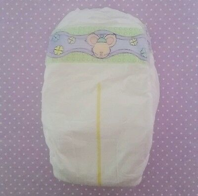 4x Disposable nappies for newborn reborn baby doll