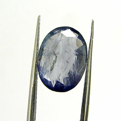 3.75 Ct Certified Natural Blue Iolite Oval Untreated loose Gemstone  - H 117788