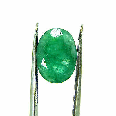 5.02 Ct Certified Natural Green Emerald / Panna Oval loose gemstone 111685