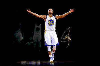 Stephen Curry Golden State Warriors Autographed Photograph Print