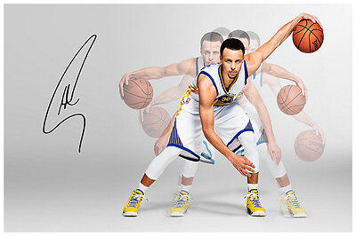 Stephen Curry Magic Golden State Warriors Autographed  Signed Poster.