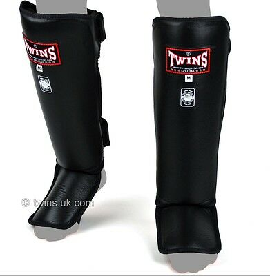 Twins Sgl-3 Shin Guards Size M In Blk.