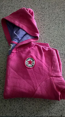 Converse  Hoodie/Hoody. Girls Size 13-15 Years. All Star Chuck Taylor. Pink.