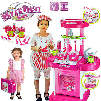 18 piece kitchen cooking children 39 s play set toy boys for Small childrens kitchen set