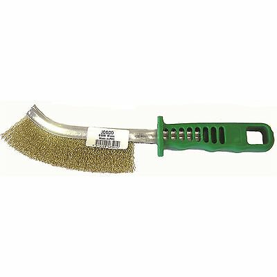 Josco SCRATCH BRUSH Brass Bristles, Removes Rust & Scale GREEN HANDLE*Aust Brand