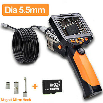 """3.5"""" LCD Video Inspection Borescope 1m Endoscope Pipe 5.5mm Camera Snake Scope"""