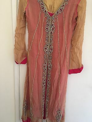 New/beautiful/indian/pakistani/asian/anarkali/wedding/mendhi/stones/pink