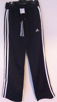 Bnwt Black Girls Adidas Performance Sports Trousers Age 7 - 8